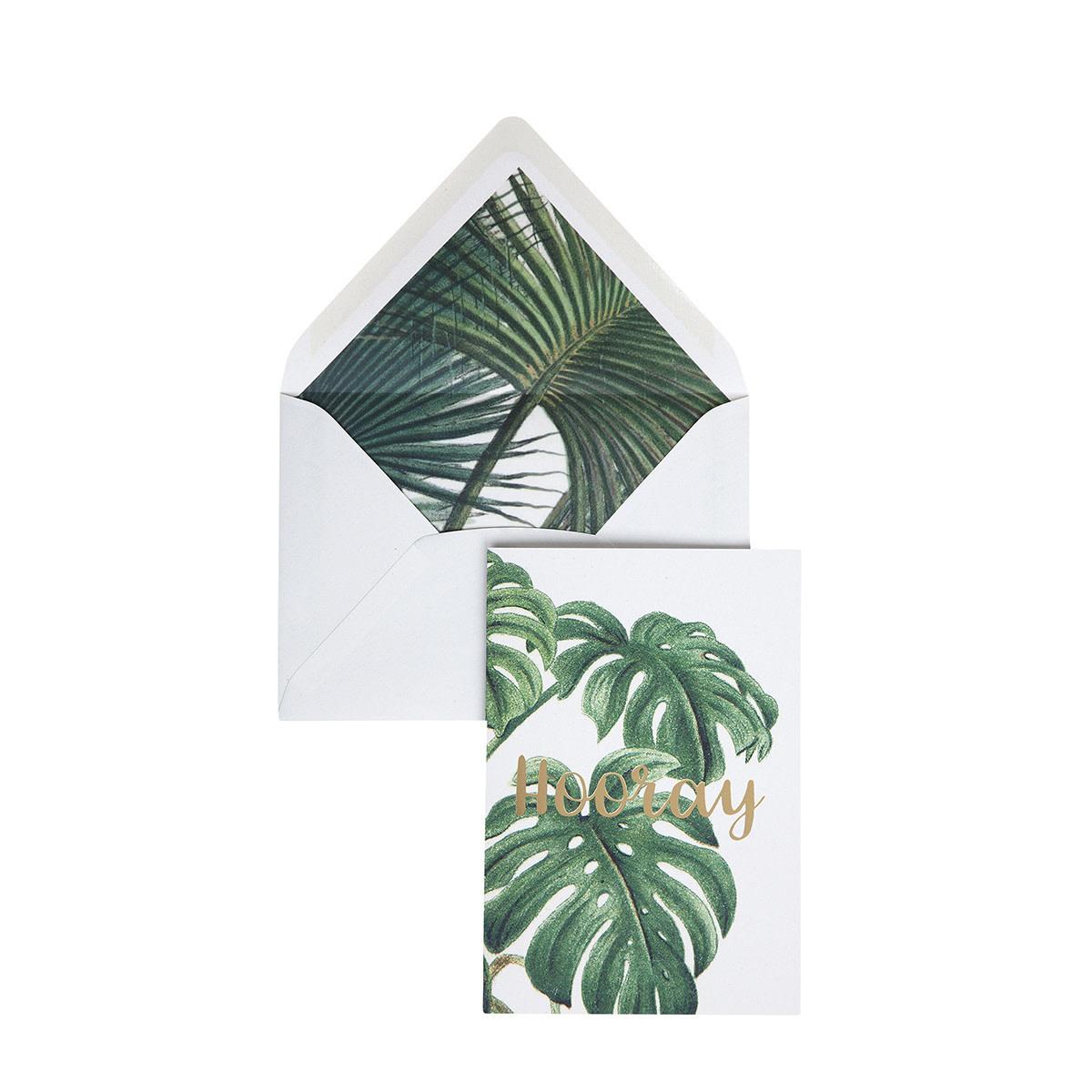 Wenskaart Botanic Palm - Hooray-1
