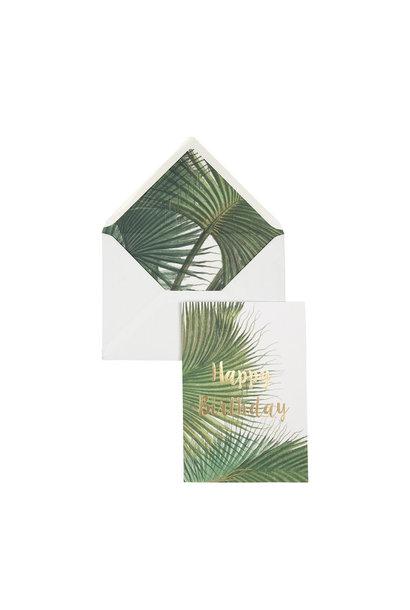 Wenskaart Palm - Happy Birthday