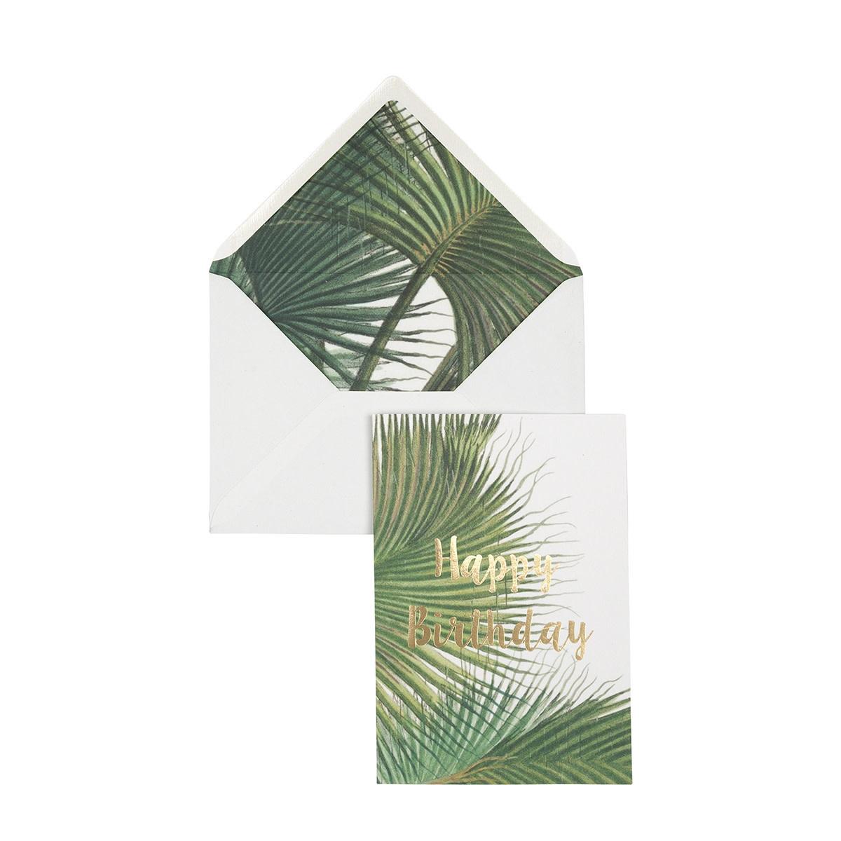 Wenskaart Palm - Happy Birthday-1