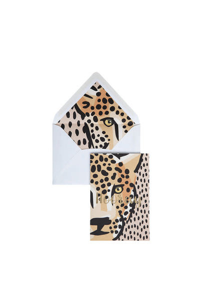 Greeting Card Panther Dots - 'Hooray'