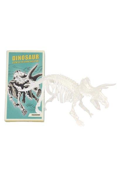 Dinosaur Skeleton Kit (Glow In The Dark) - Triceraptops