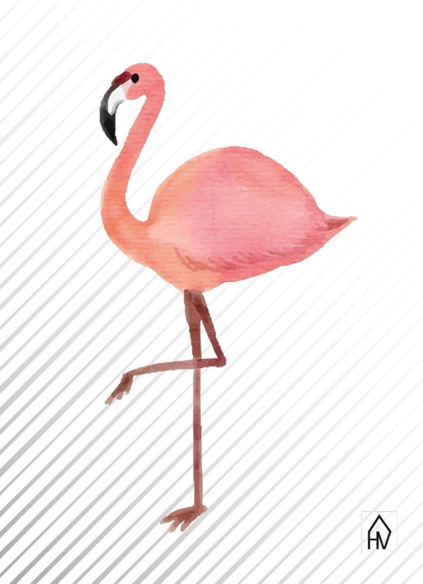 Postkaart Flamingo-1