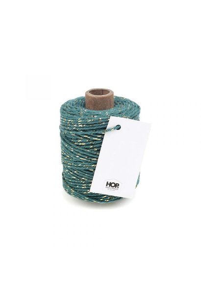 Rope Turquoise with Golden Touch