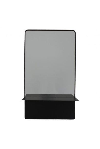 Rectangular Mirror and Shelf