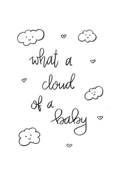 Postkaart What a cloud of a baby