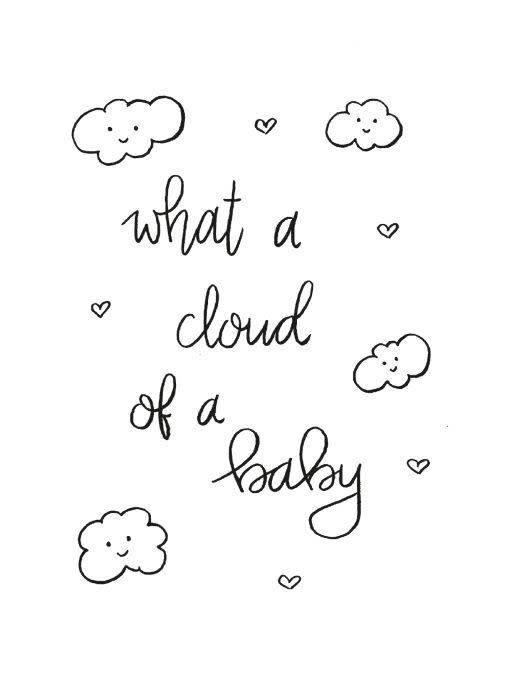 Postkaart  What a cloud of a baby-1