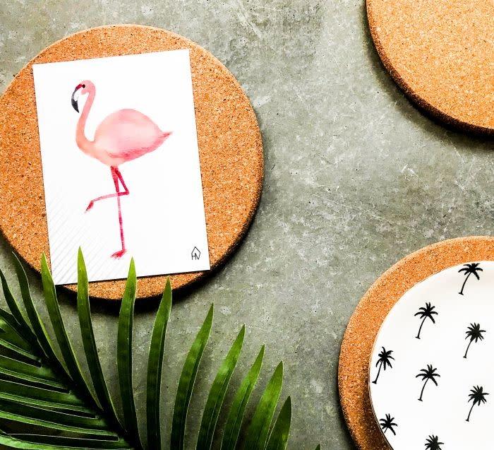 Postkaart Flamingo-2