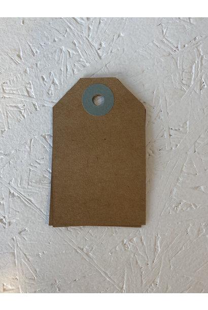 Cadeaulabel - Kraftpapier Blauw