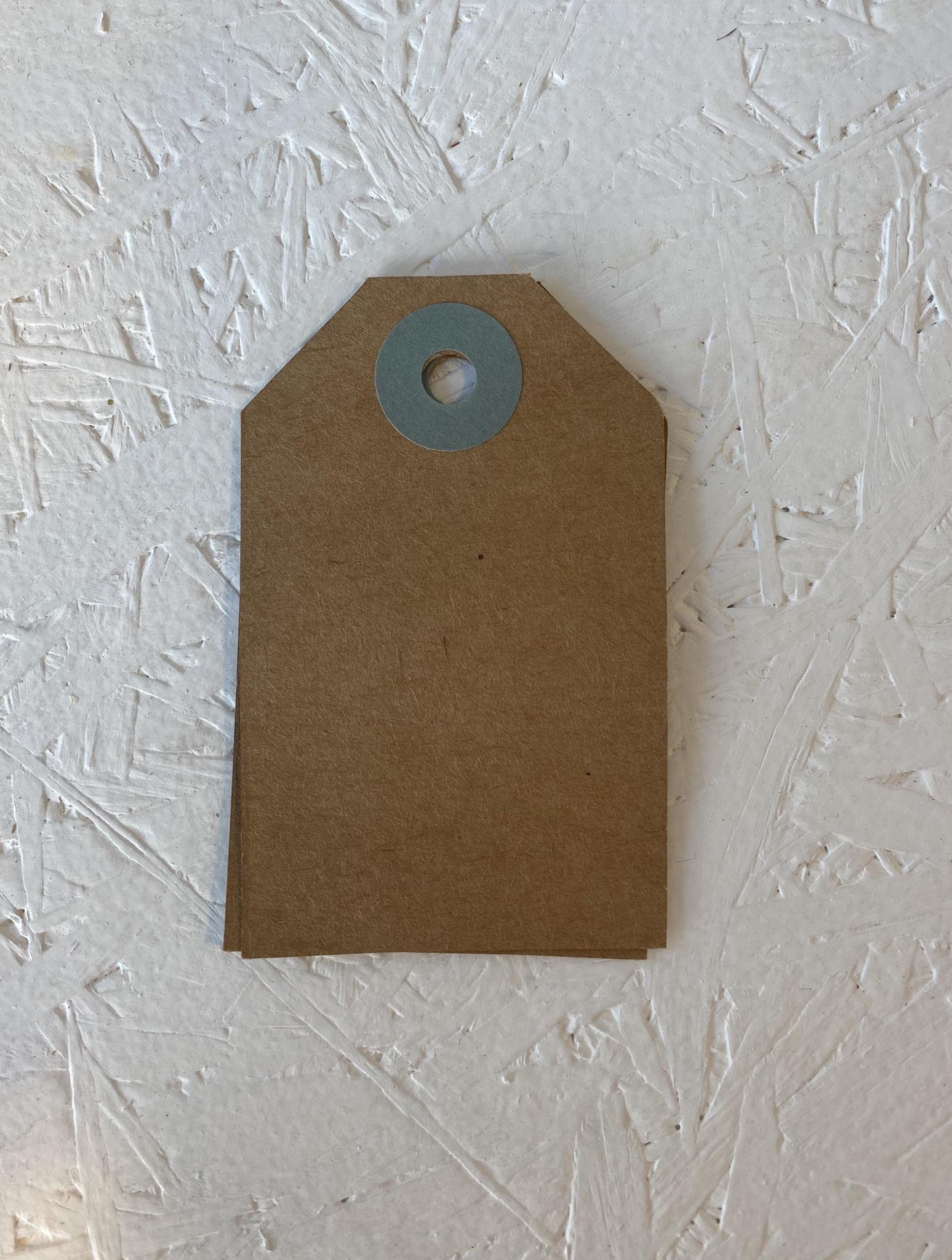 Cadeaulabel - Kraftpapier Blauw-1