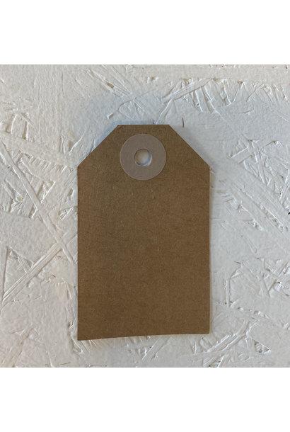 Cadeaulabel - Kraftpapier Roze