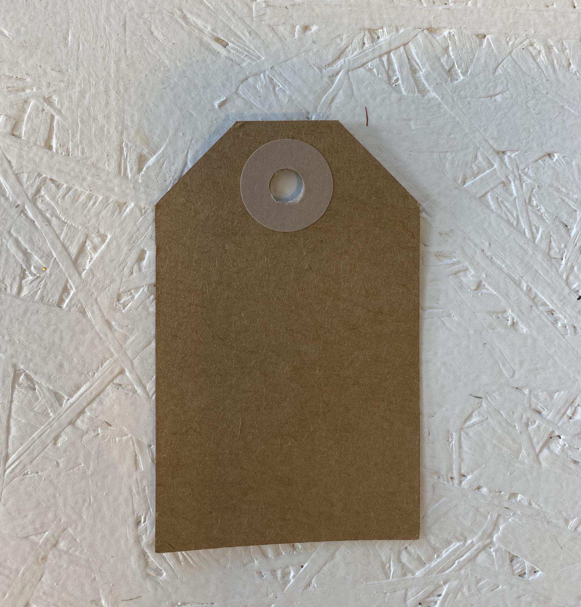 Cadeaulabel - Kraftpapier Roze-1