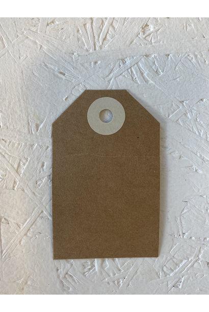 Cadeaulabel - Kraftpapier Ecru