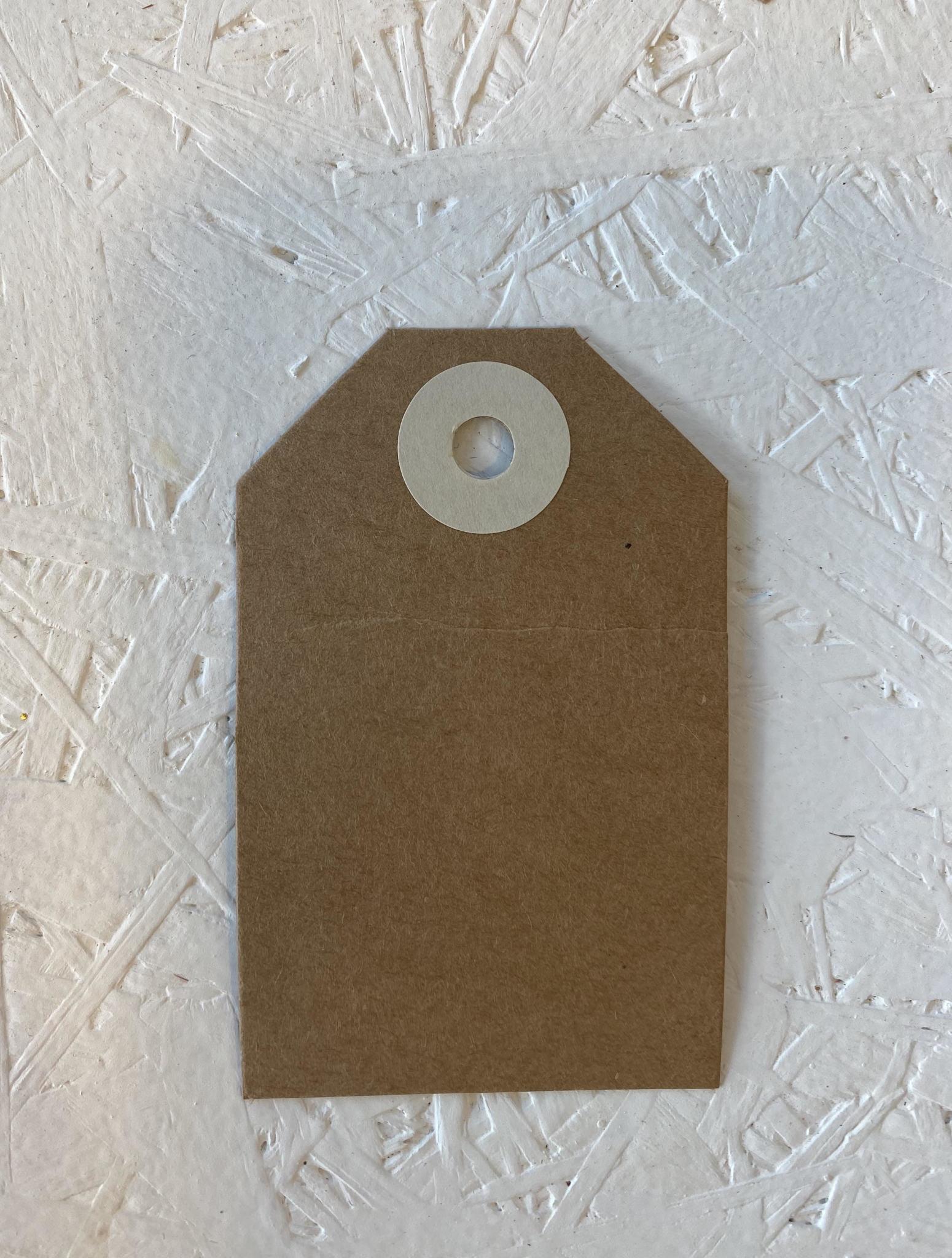 Cadeaulabel - Kraftpapier Ecru-1