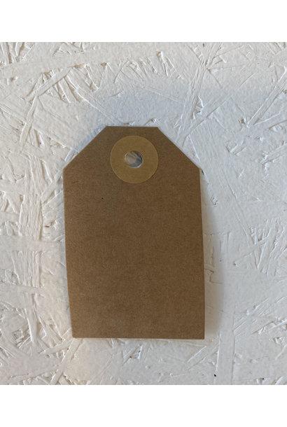 Cadeaulabel - Kraftpapier Goudbruin
