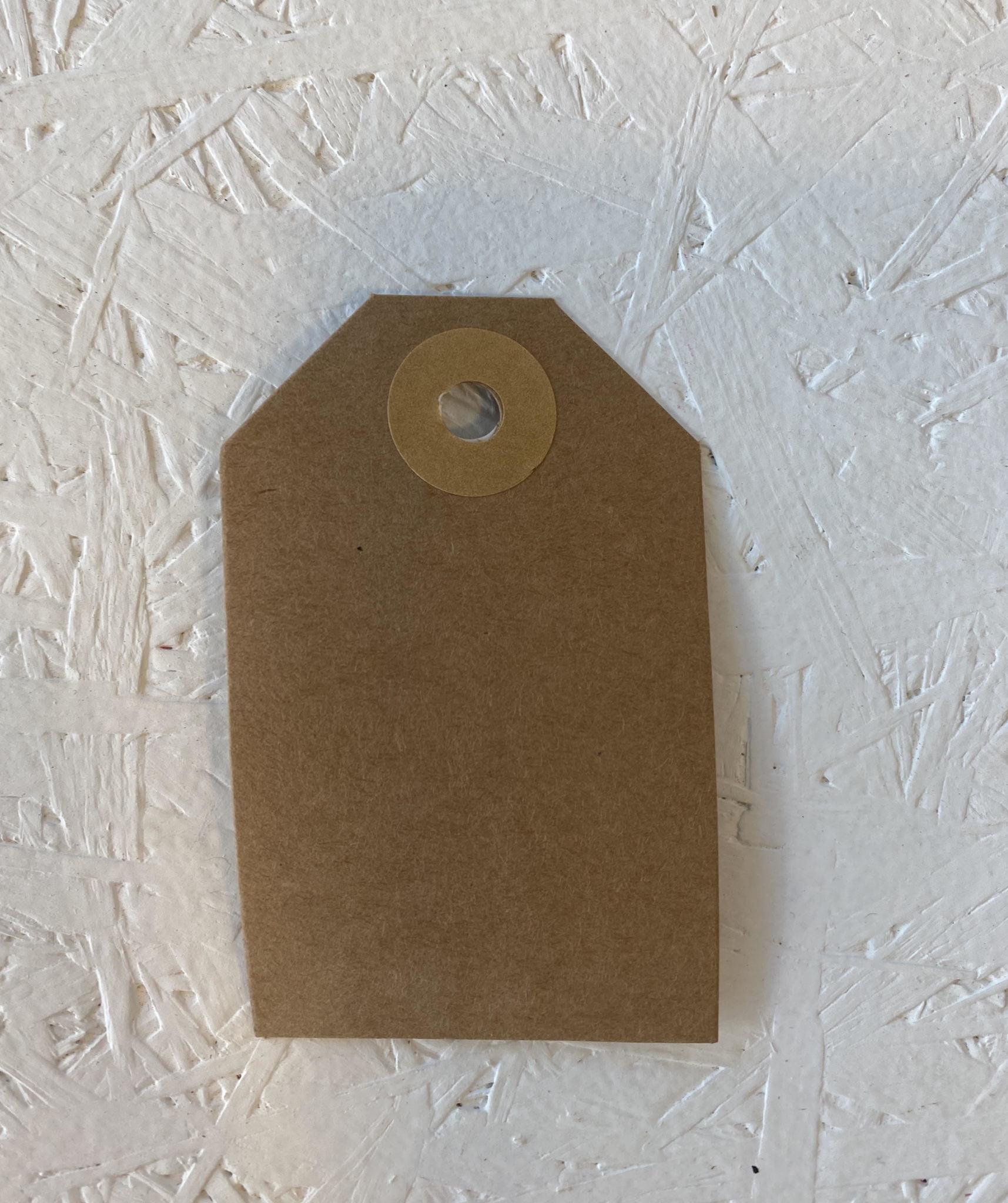 Cadeaulabel - Kraftpapier Goudbruin-1