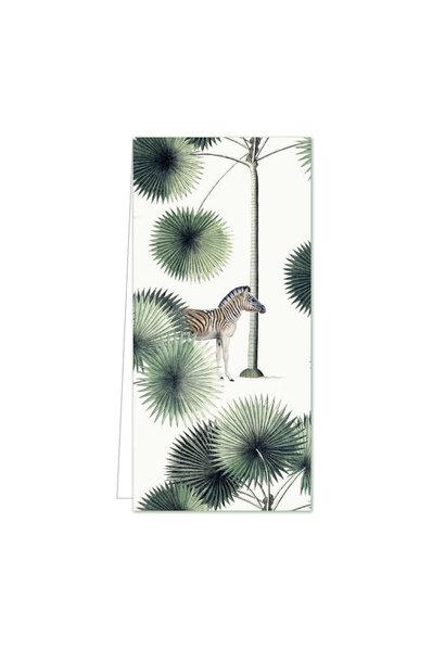 Gift Tag - Palms & Stripes Zebra