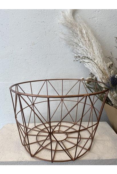 Iron Basket Copper - Large