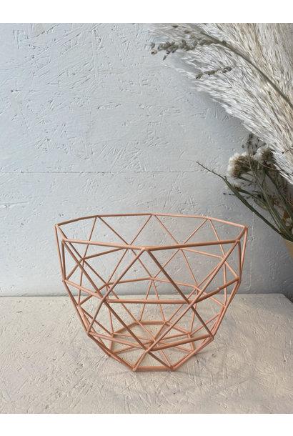 Iron Basket Pink- Small