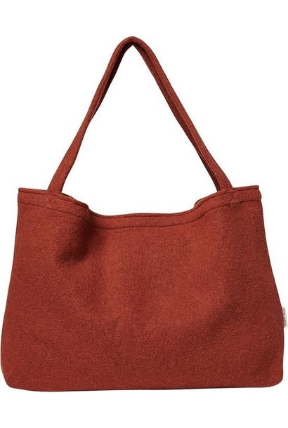Terracotta woolish mom-bag