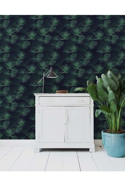 Behang op rol - Palm Leaves Dark Green