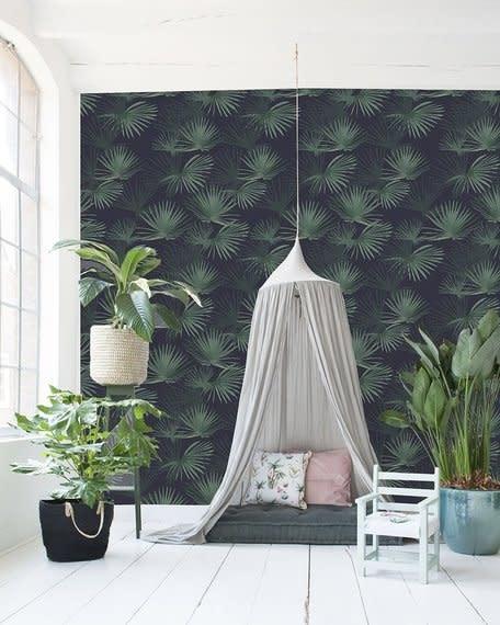 Behang op rol - Palm Leaves Dark Green-2