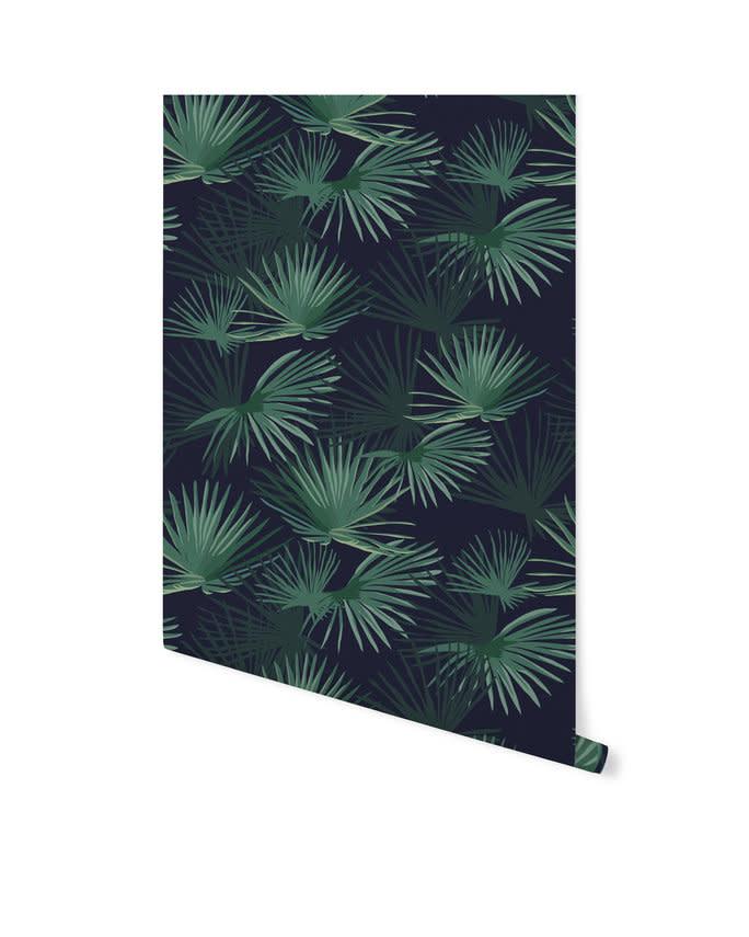 Behang op rol - Palm Leaves Dark Green-3