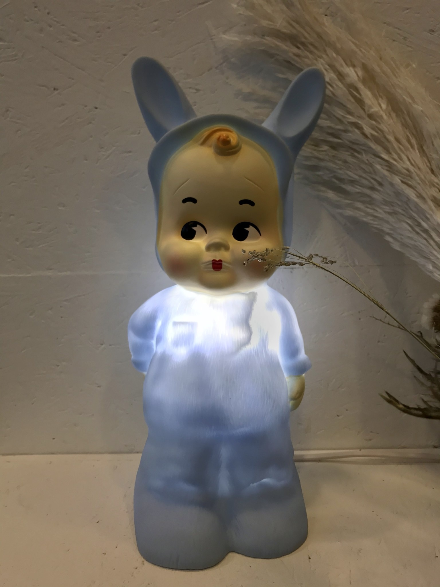 Retro Lamp Baby Blauw-2