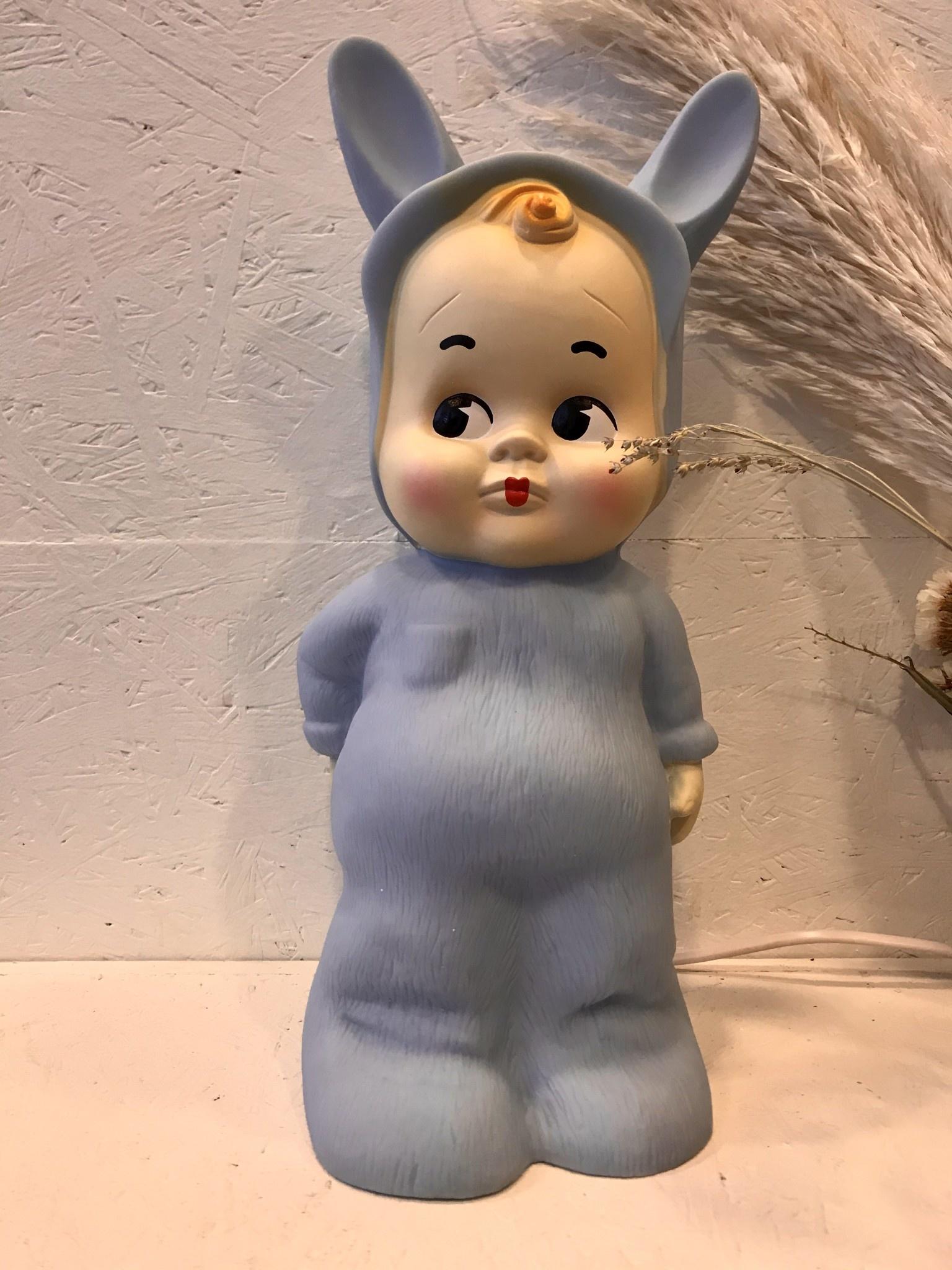 Retro Lamp Baby Blauw-1