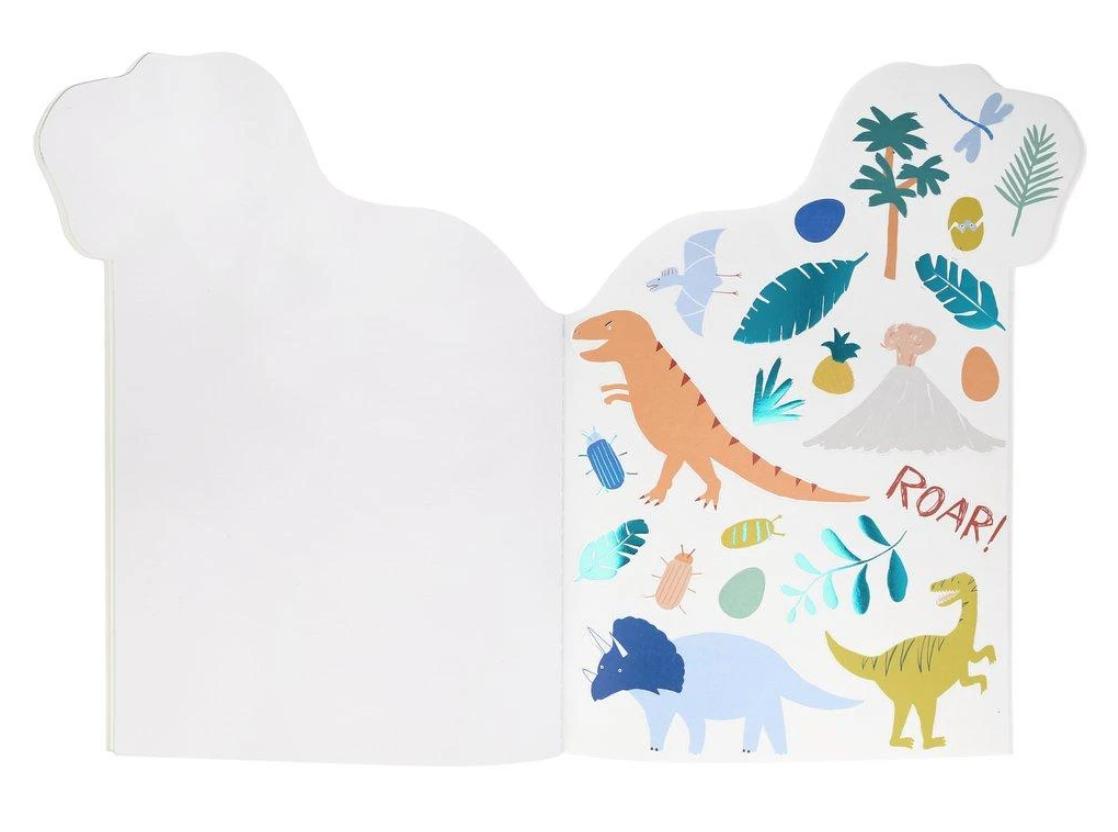Schets & Stickerblok Dino-4