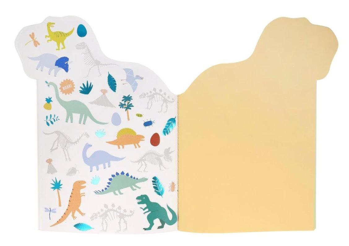 Schets & Stickerblok Dino-5