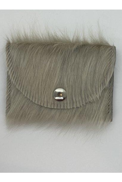 Wallet Cowhide Gray