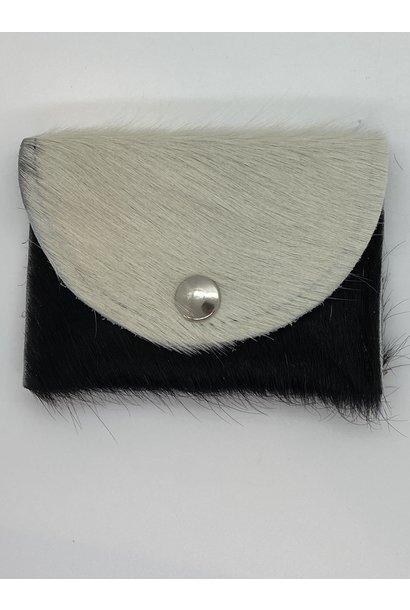 Portemonnee Koeienhuid Wit/Zwart