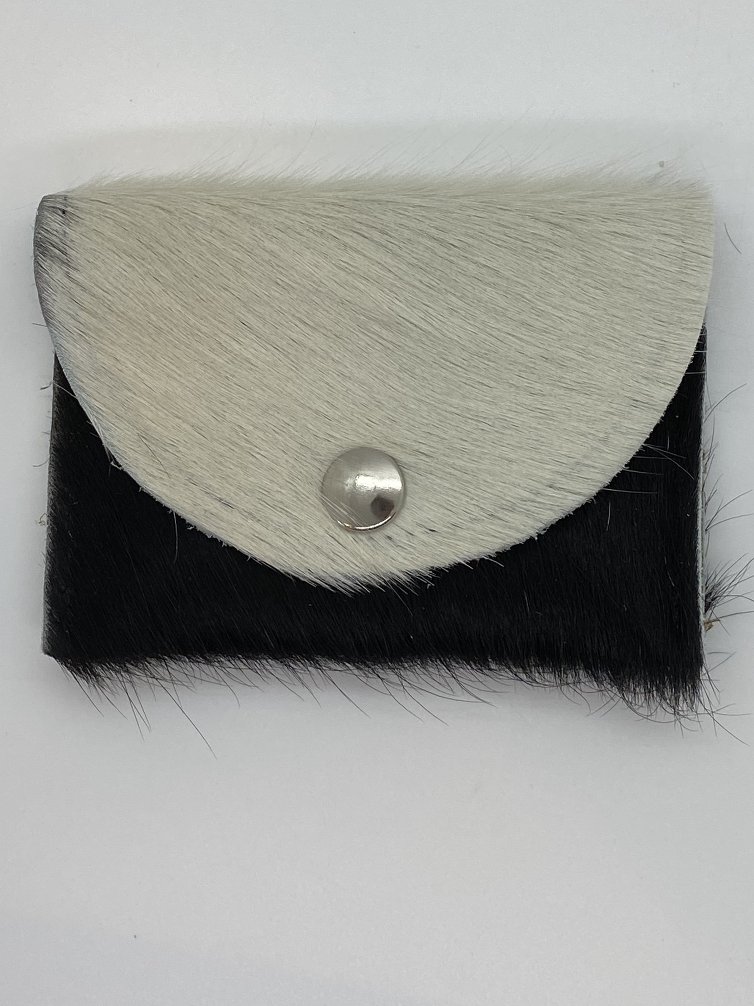 Portemonnee Koeienhuid Wit/Zwart-1