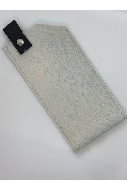 Brillenhoesje Koeienhuid Wit
