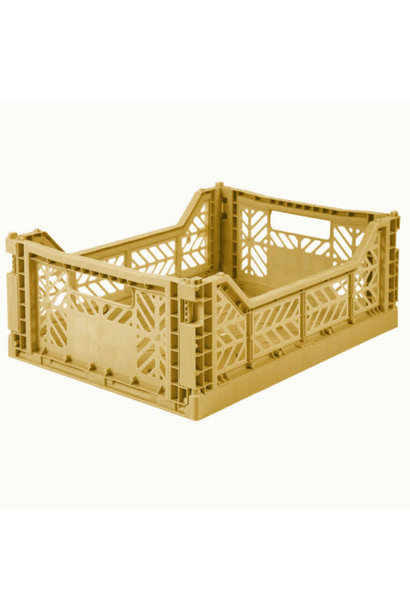 Folding Crate Medium Gold