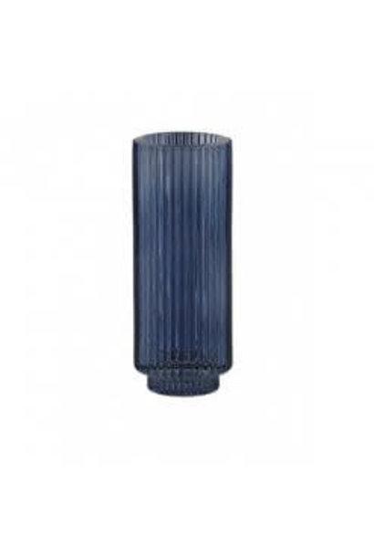 Theelichthouder Philon Glas Blauw - Large
