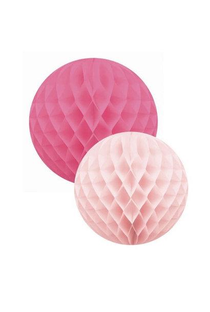 Roze Honingraat Ballen