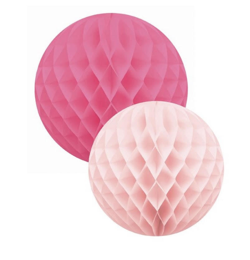 Roze Honingraat Ballen - Delight Department-1