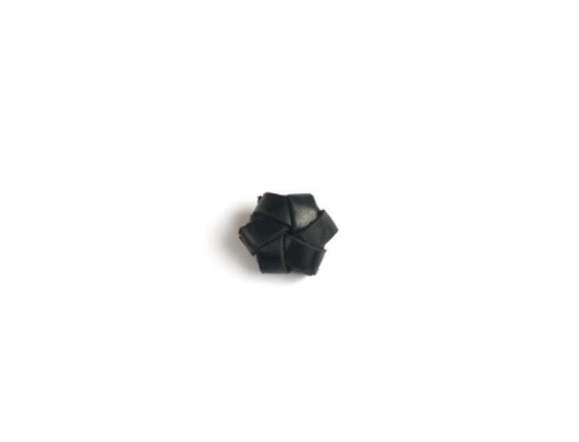 Strups Leren Bloem Zwart-1