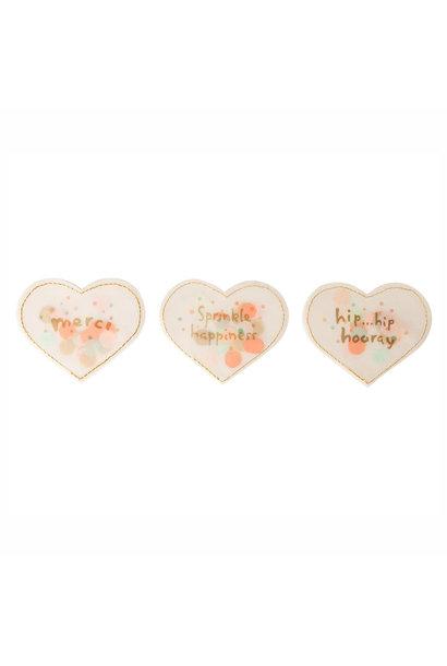 Confetti Heart 'Hip Hip Hooray'