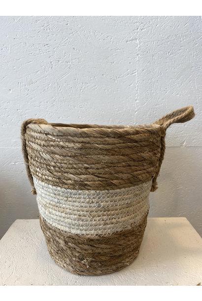 Woven Basket White - Small