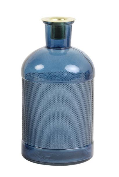 Bottle / Candlestick Elisa Glass Blue