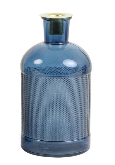 Fles / Kandelaar Elisa Glas Blauw-1