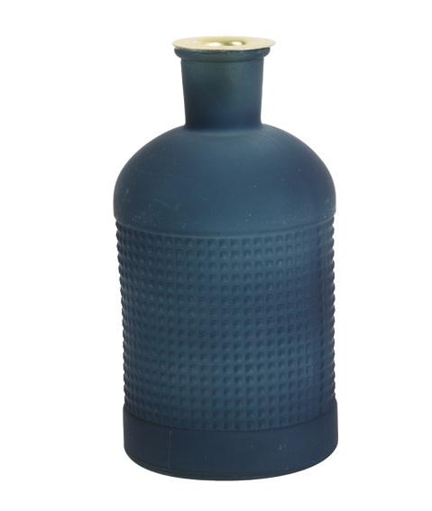 Fles / Kandelaar Elisa Mat Glas Blauw-1