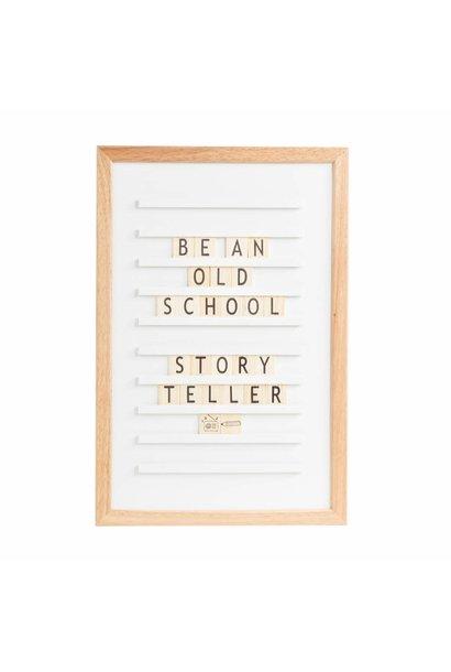 Old School Letterboard White