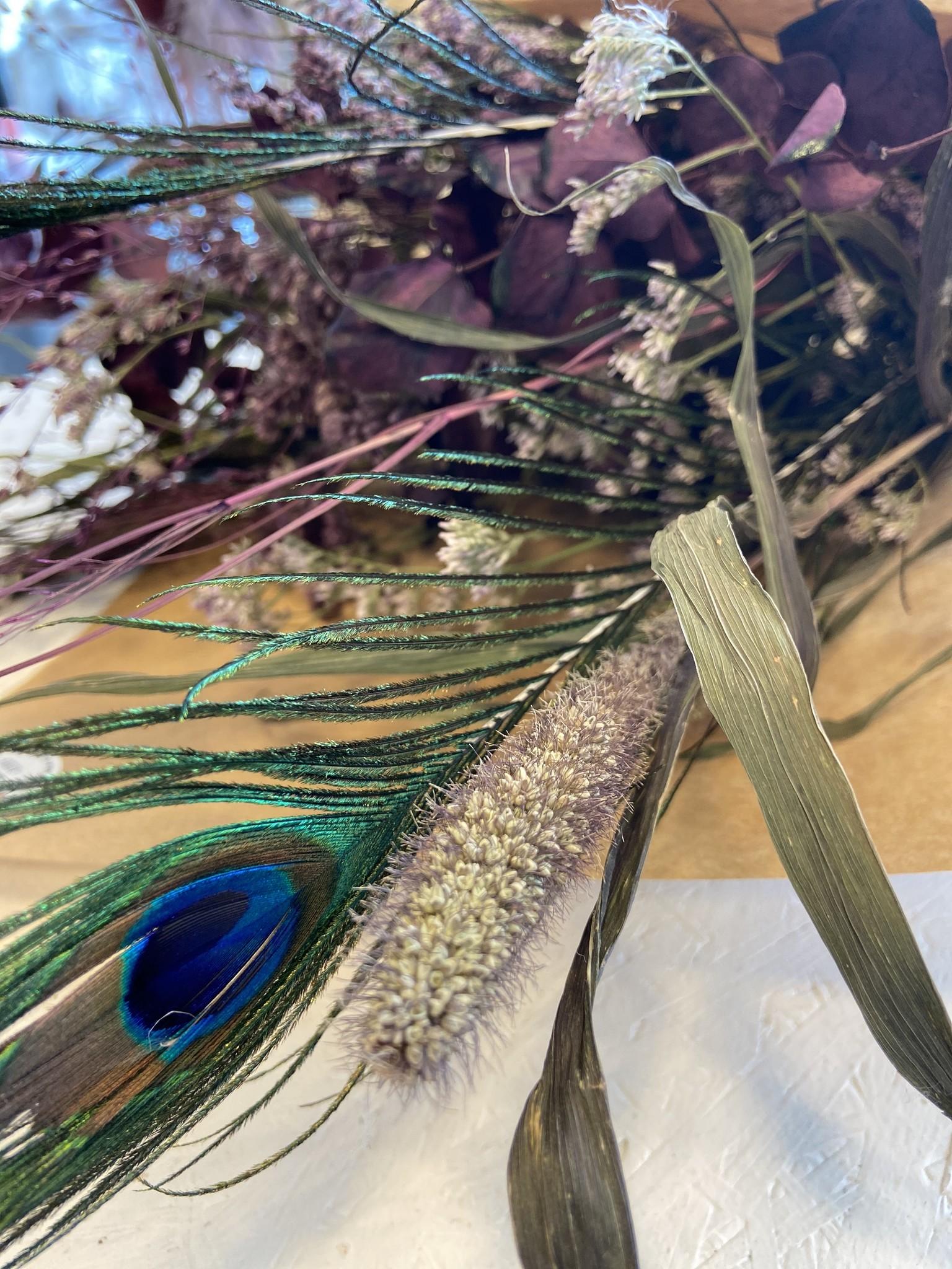 Droogboeket Peacock Purple-2