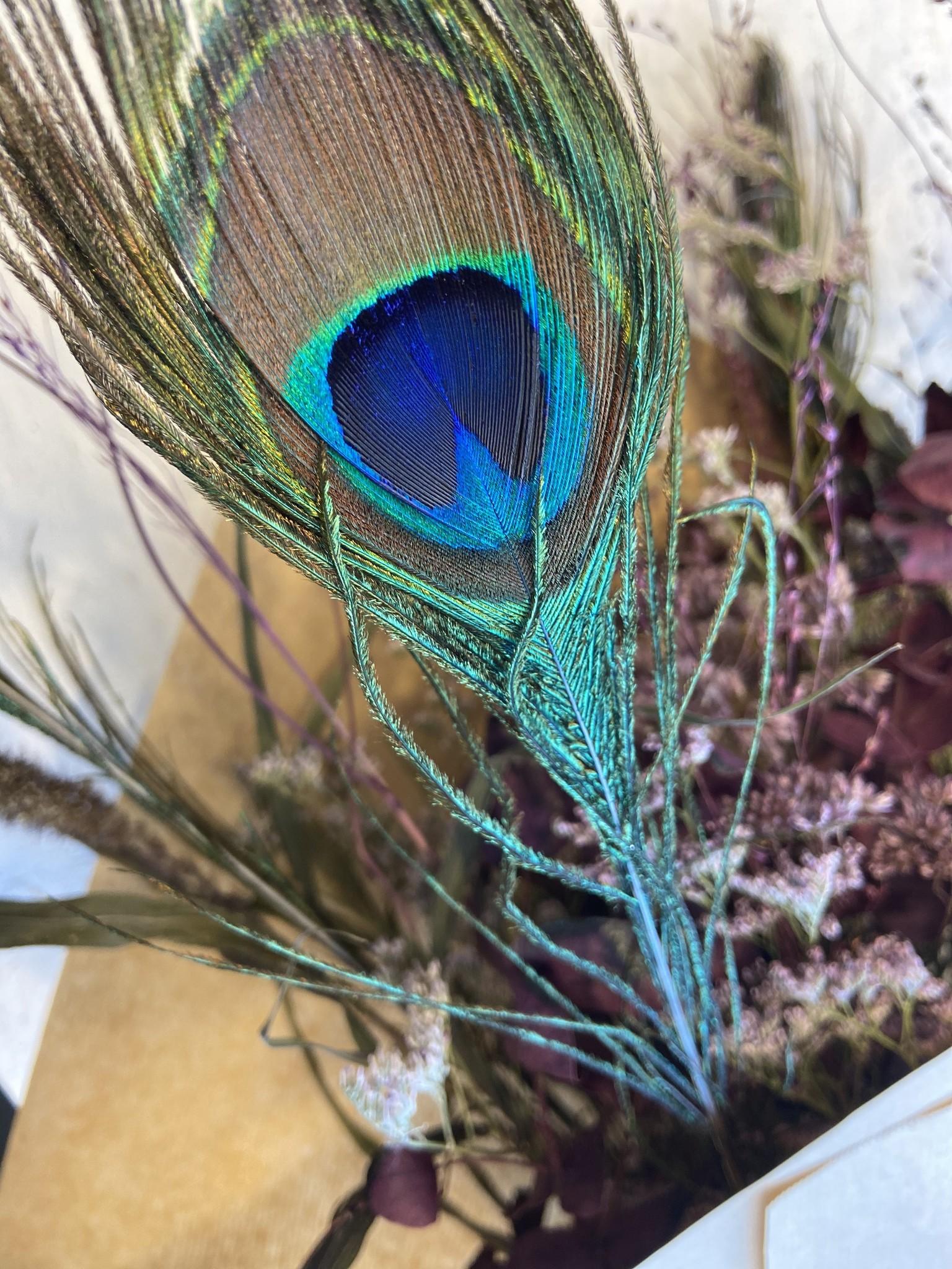 Droogboeket Peacock Purple-3