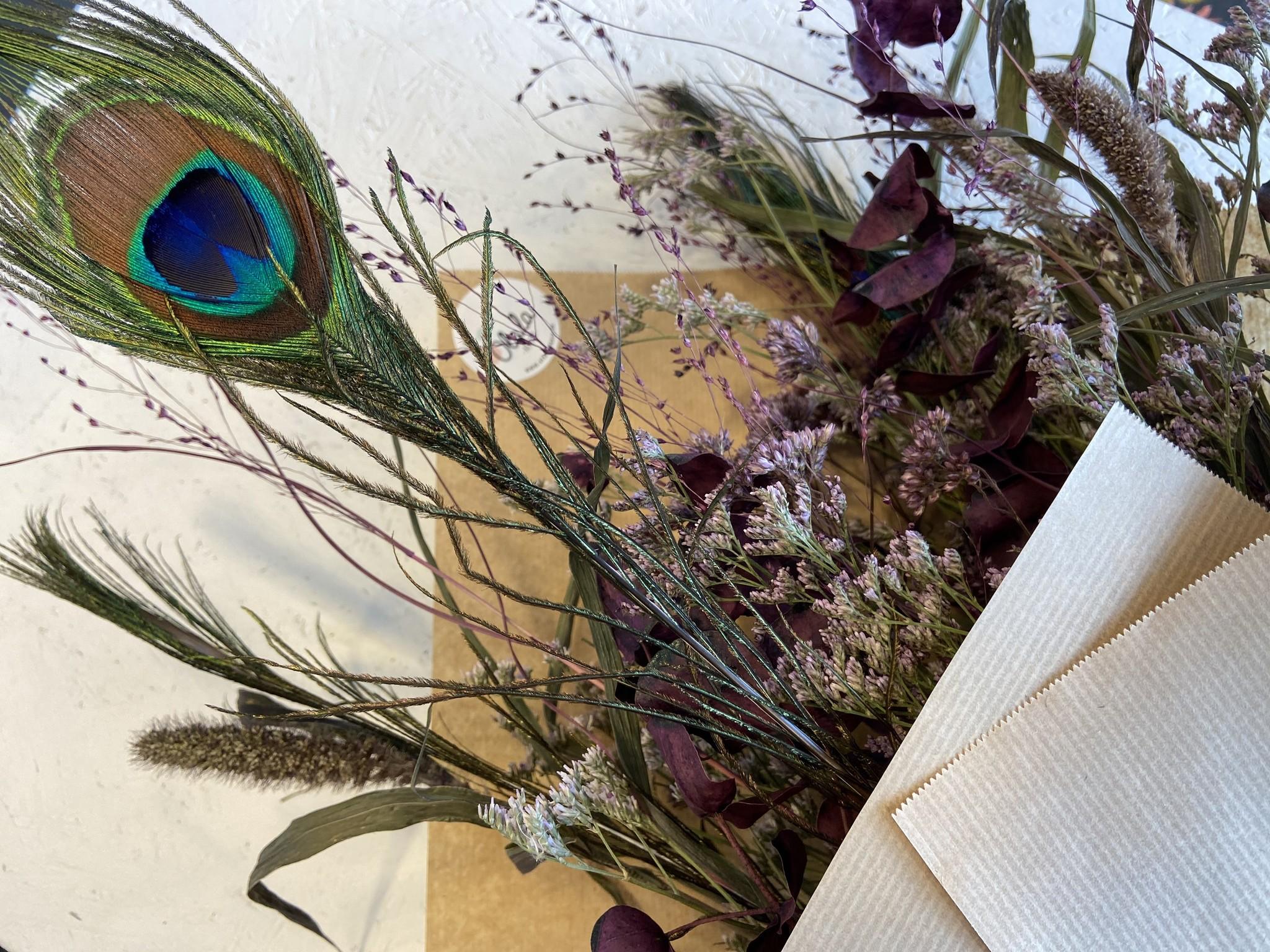 Droogboeket Peacock Purple-4