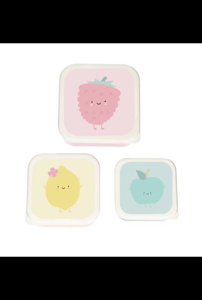 Fruit Lunchbox set van 3