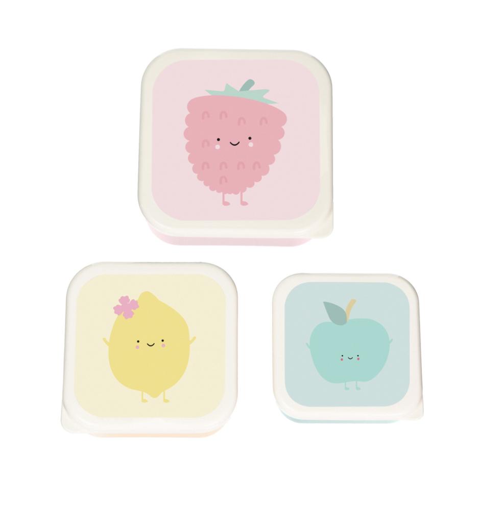Fruit Lunchbox set van 3-1